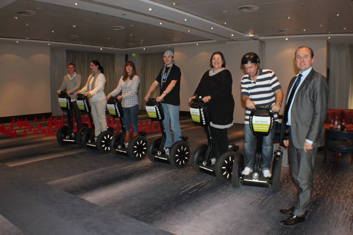 Blogger on Segways