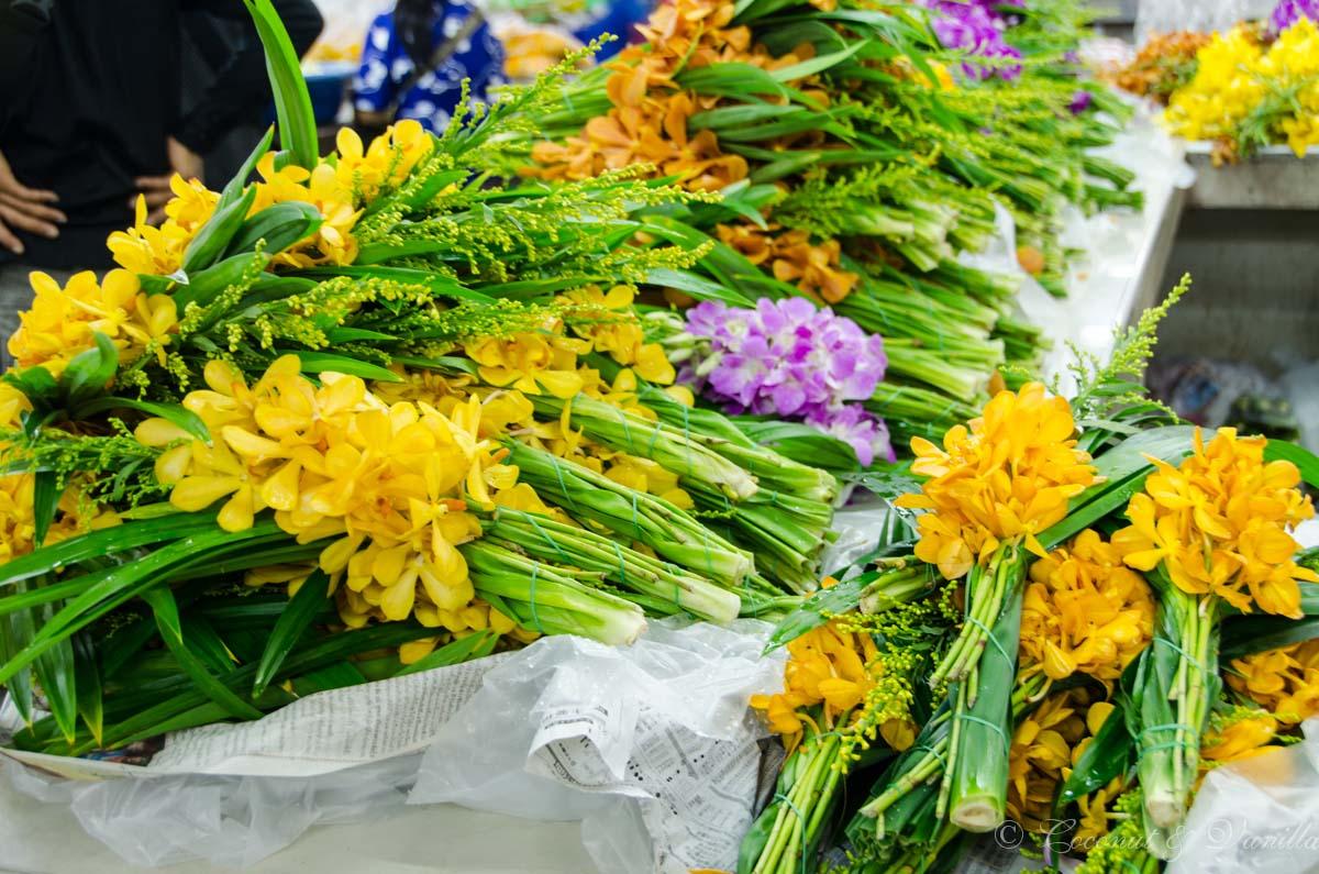 Bangkok Flower Market flowers