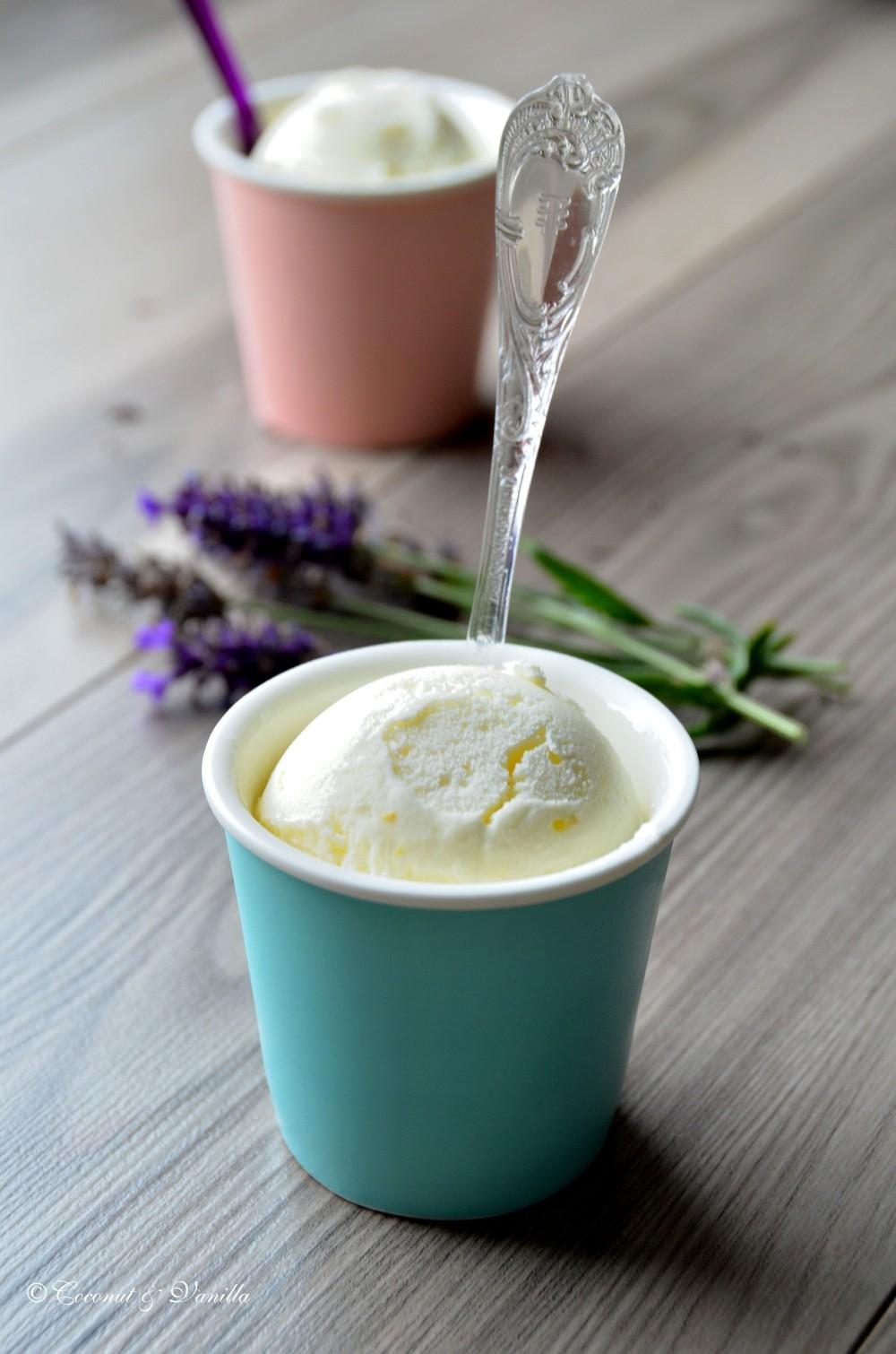 Frozen Yogurt mit Zitrone