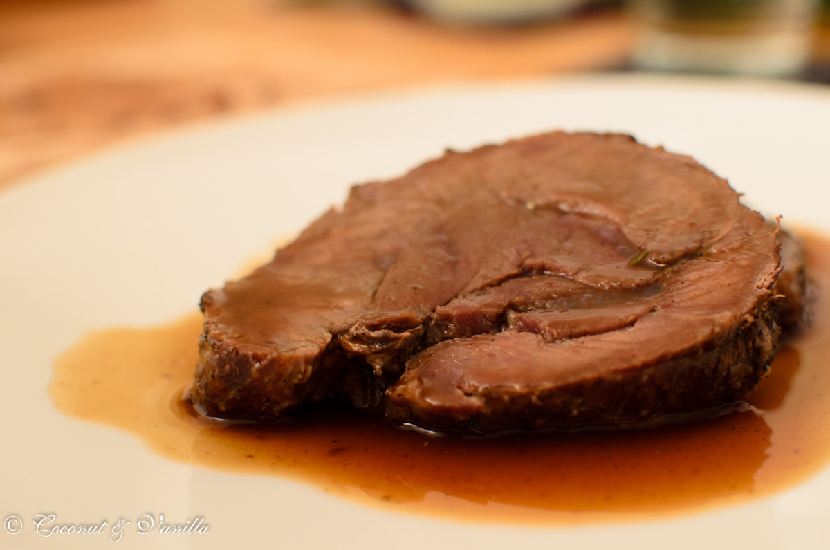 Boneless Leg of Wild Boar with Rose Hip Sauce