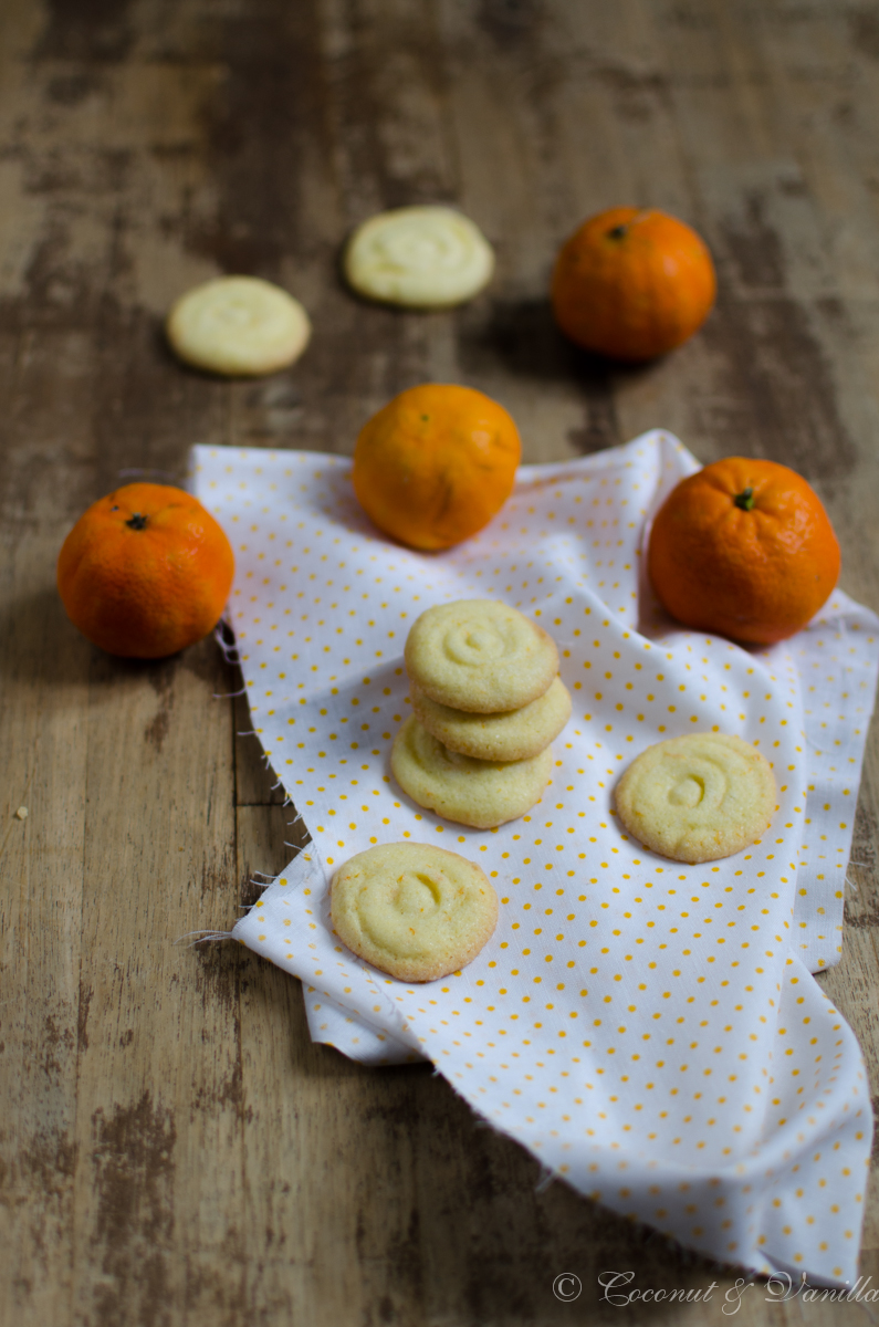 Mandarinenkekse - Tangerine Cookies by Coconut & Vanilla