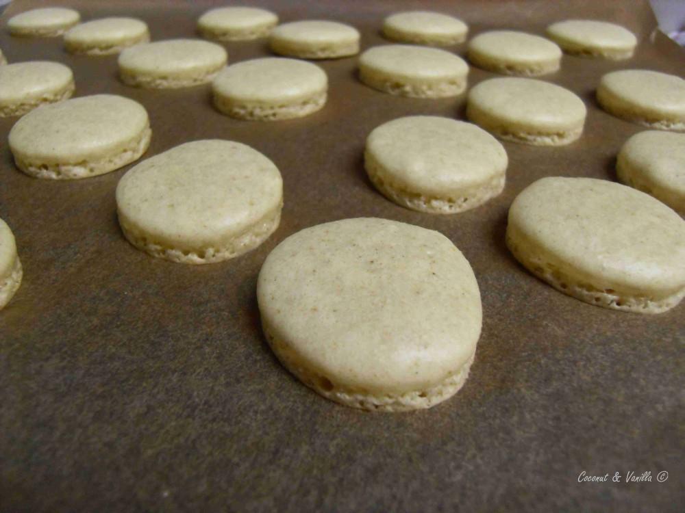 cinnamon and anis macarons