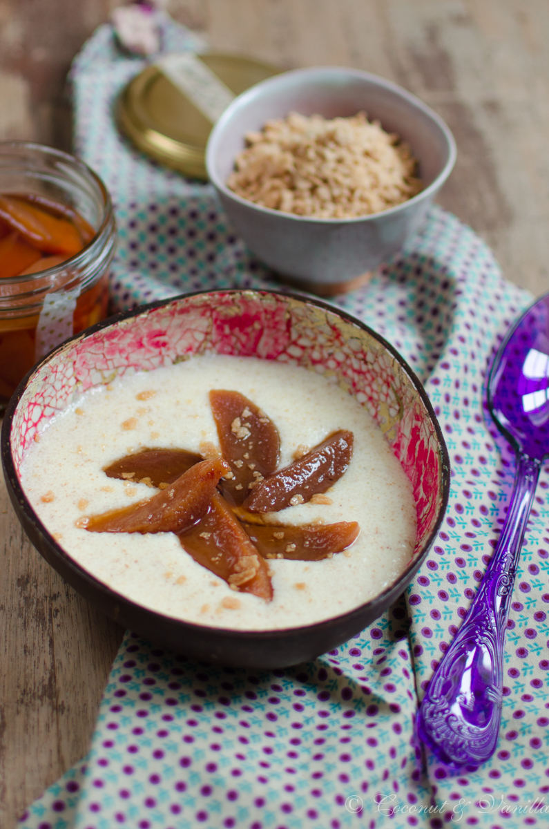 Semolina Porridge with Chai-Tea Quinces