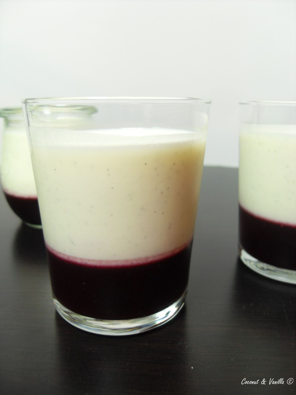 blueberry and buttermilk panna cotta