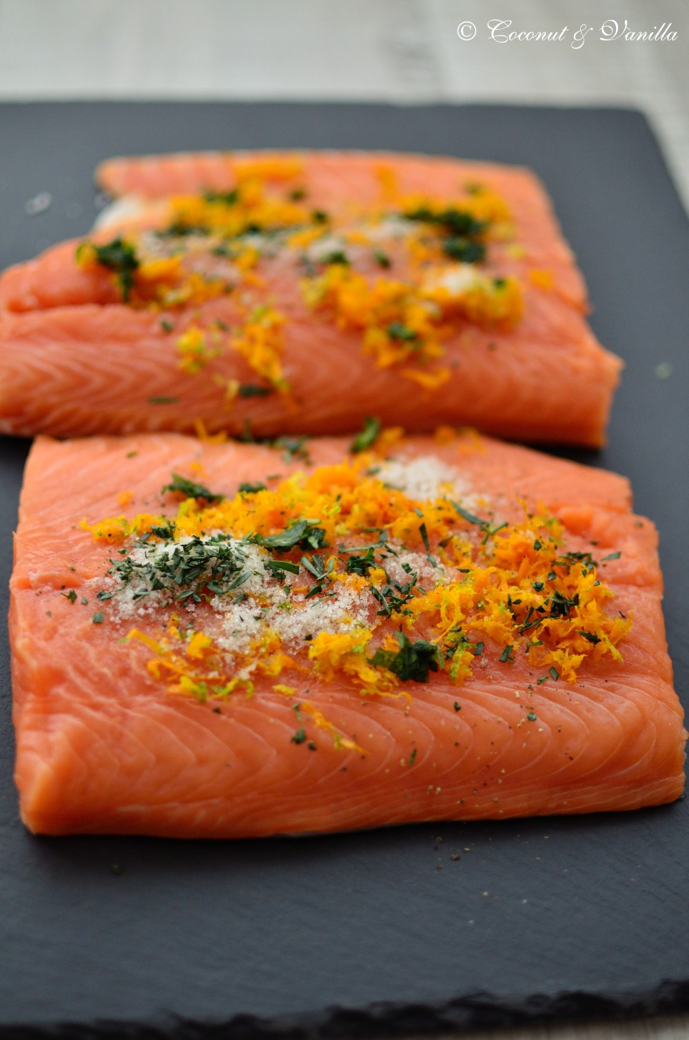 Homemade Gravlax with Orange, Tarragon & Vanilla