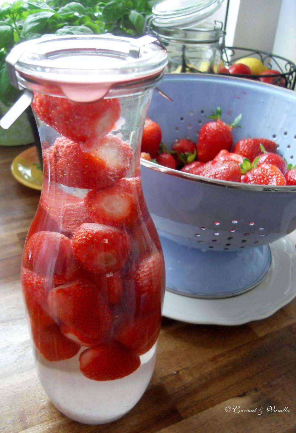 Strawberry Liquor, Basil Olive Oil & Elderflower Vinegar