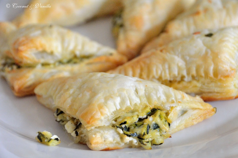Puff Pastry Turnovers with Zucchini and Feta