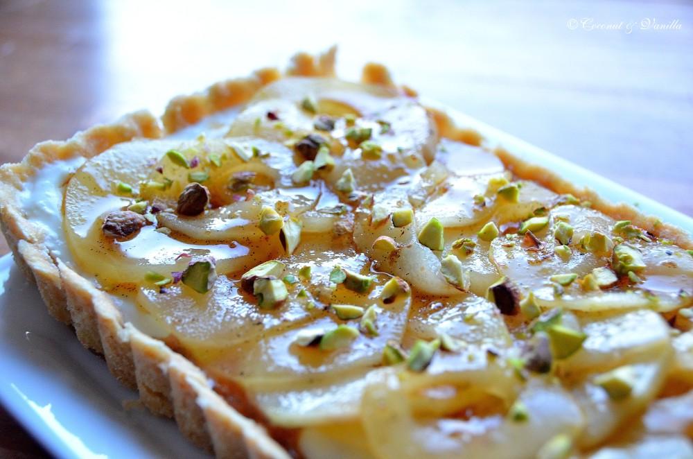 Birnen-Vanille-Tarte