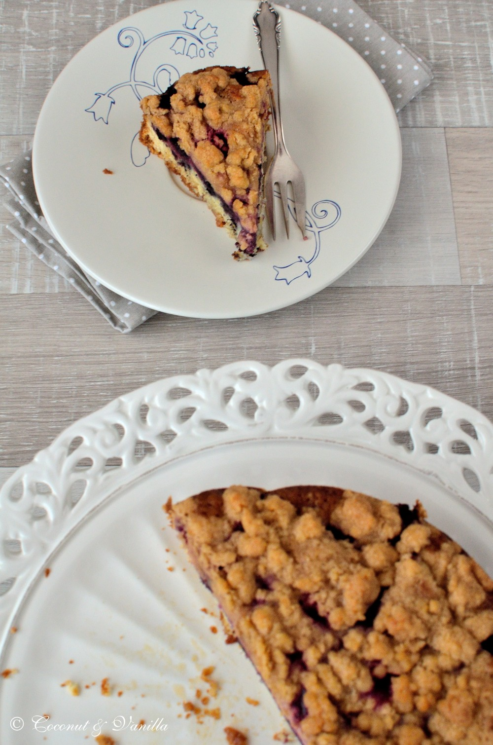 Blackberry Cake with Cinnamon Streusel