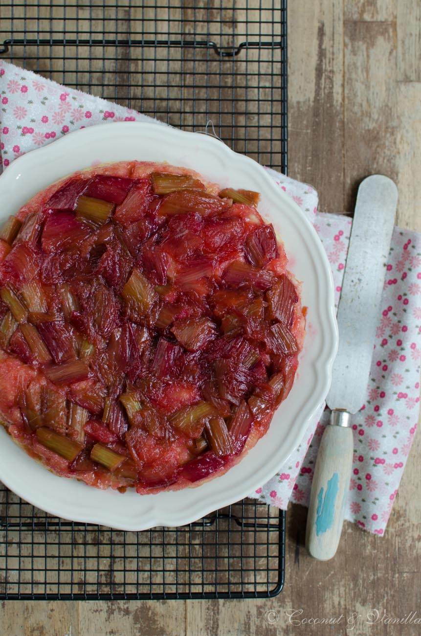 Rhubarb Cake Upside Down