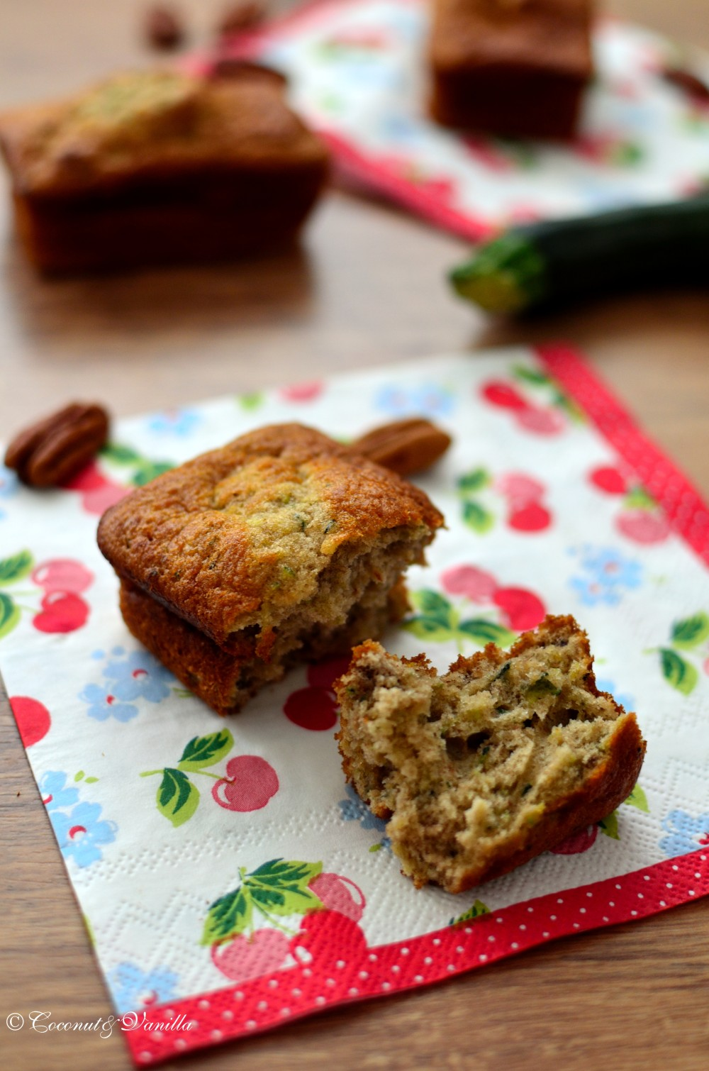 Zucchini-Banana-Bread with Pecans
