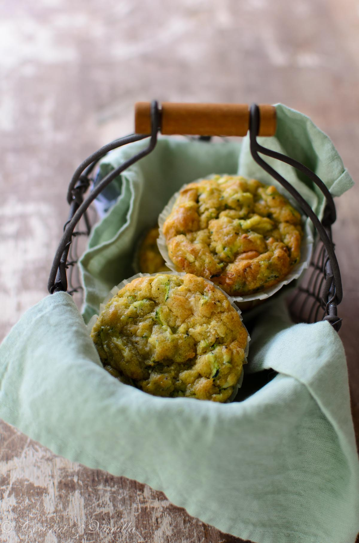 Zucchini Muffins with Parmesan and Olive Oil