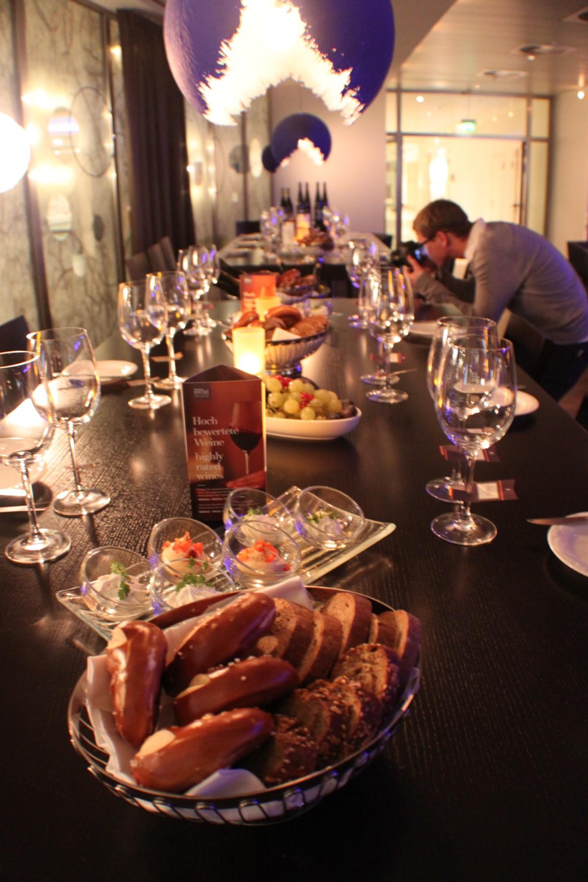 Weinverkostung Sheraton Blogger Event Frankfurt