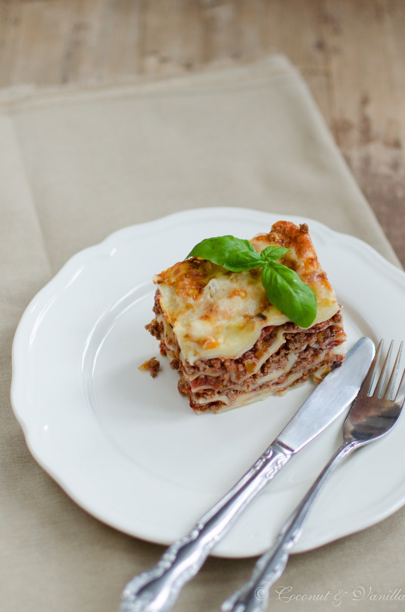 Lasagne with minced beef