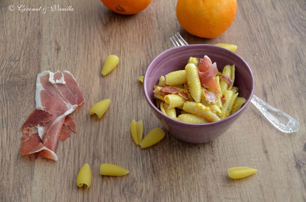 Orange Pasta with Prosciutto
