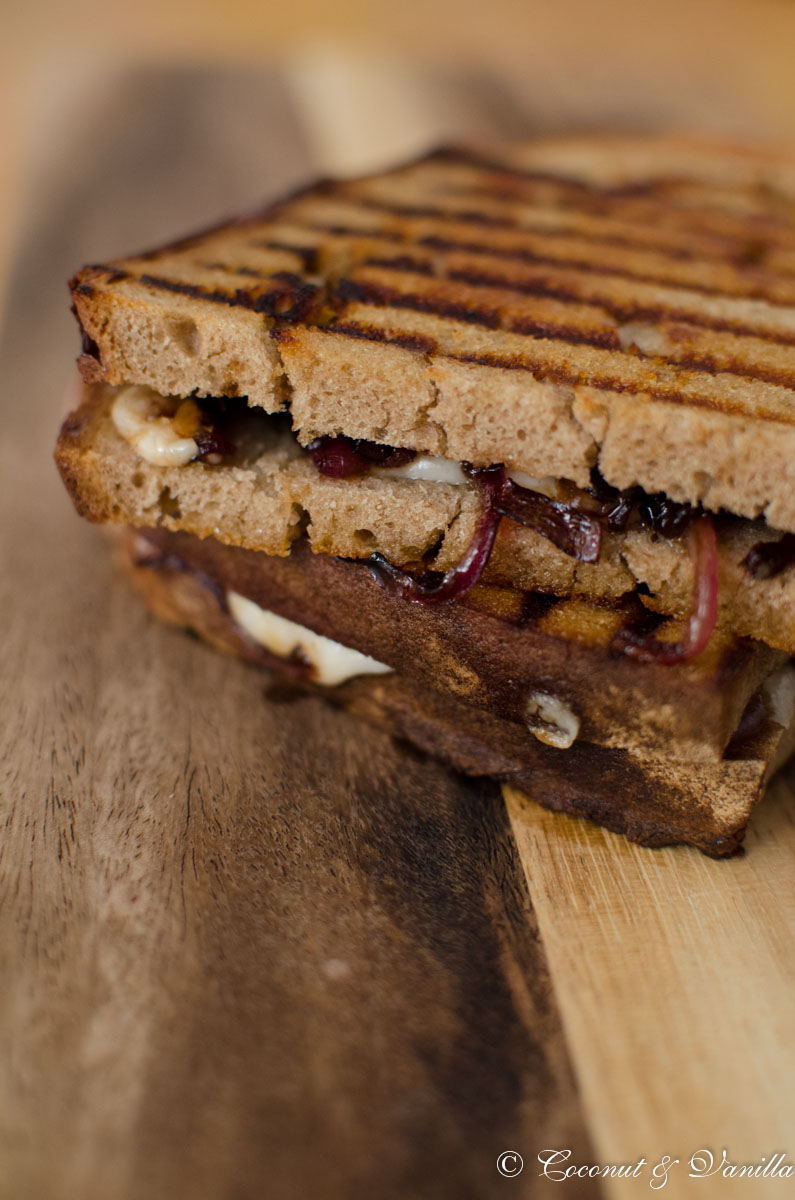 Panini with Caramelized Onions and Goats Cheese
