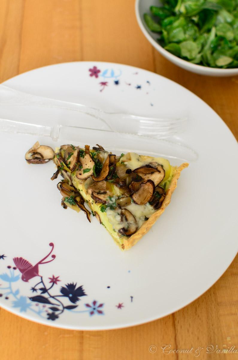 Potato Mushroom Tarte