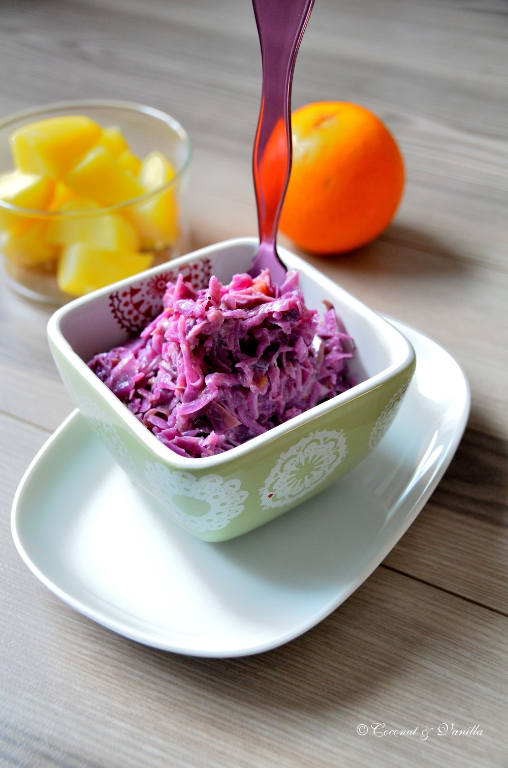 Red Cabbage with Oranges & Gorgonzola