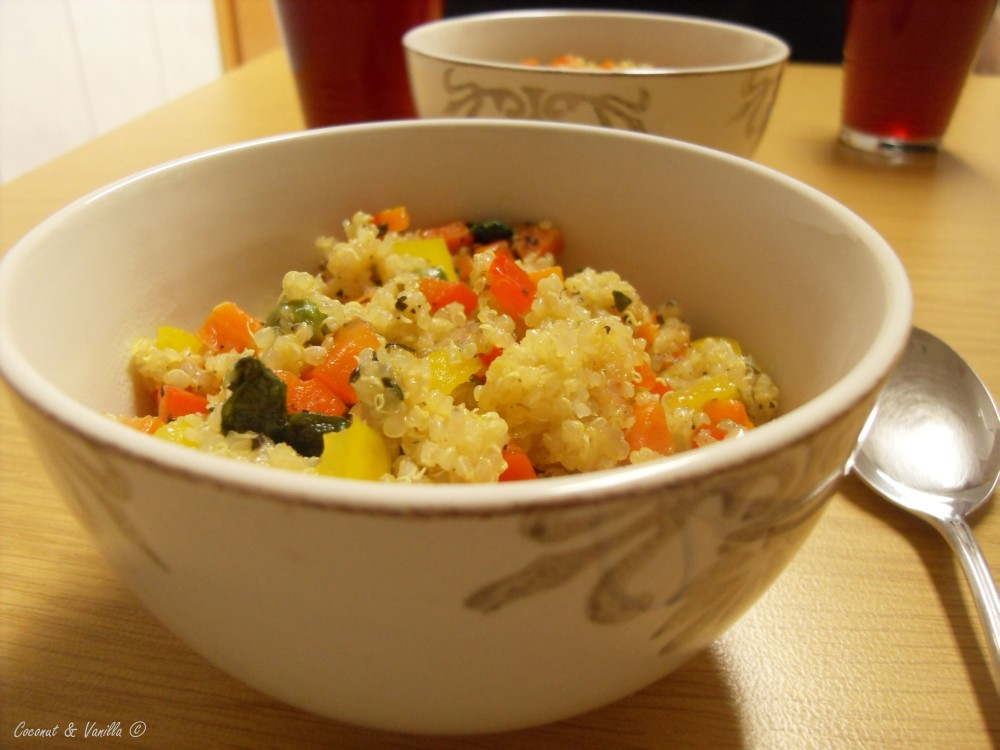 vegetables with quinoa