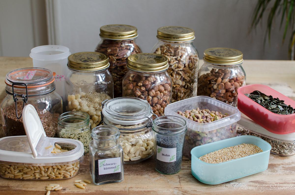 Mein Vorratsschrank Teil 2: Nüsse und Saaten