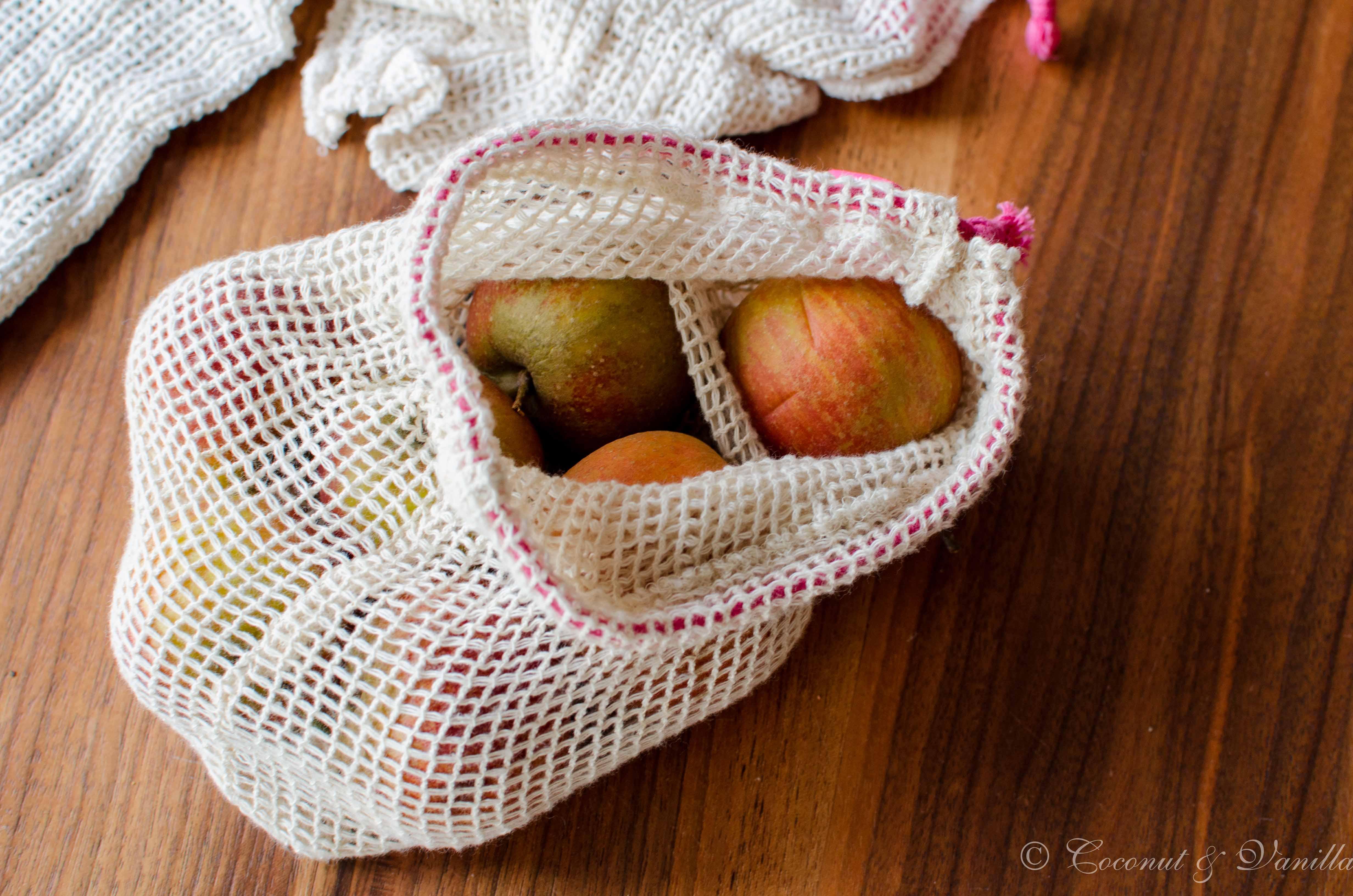Greenderella Baumwollsäckchen mit Äpfeln