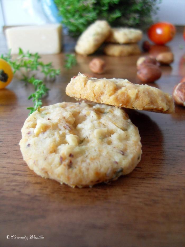 Thymian Haselnuss Cracker