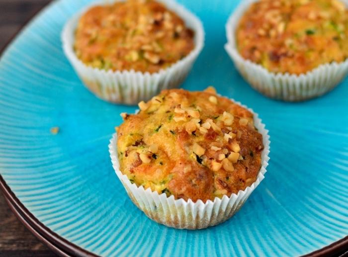 Cooking through La Tartine Gourmande: Basil-flavoured zucchini and Comté muffins