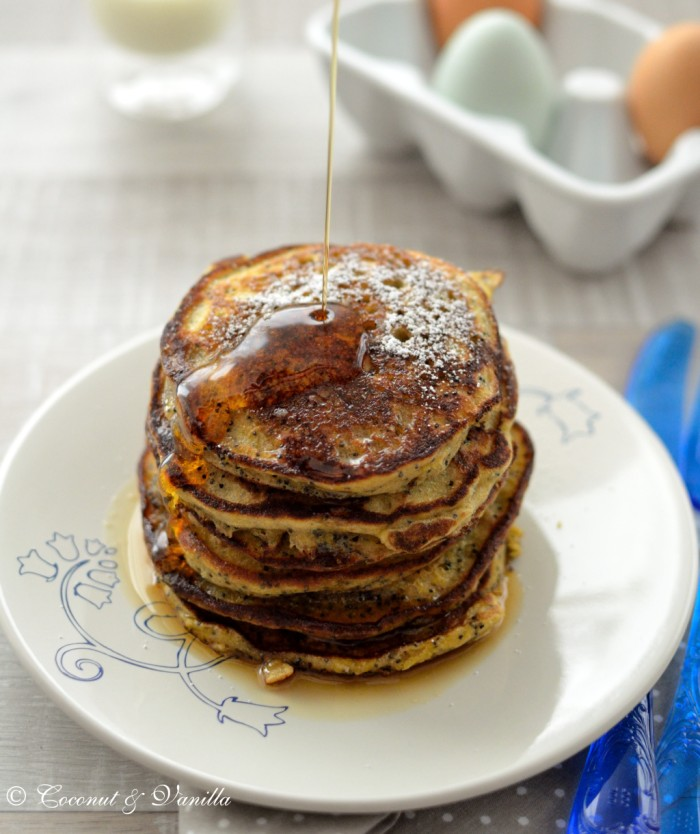 Cooking through La Tartine Gourmande: Buttermilk, lemon and poppy seed quinoa pancakes