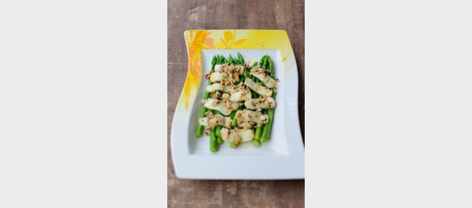 Asparagus with Taleggio and Hazelnut Butter