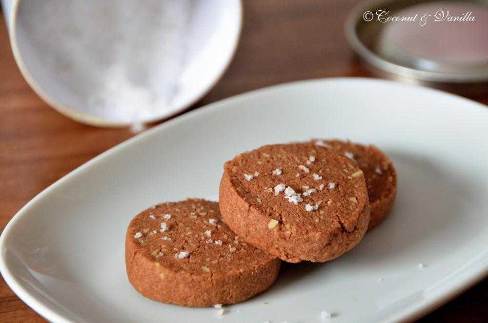 Schokoladenkekse mit Fleur de Sel