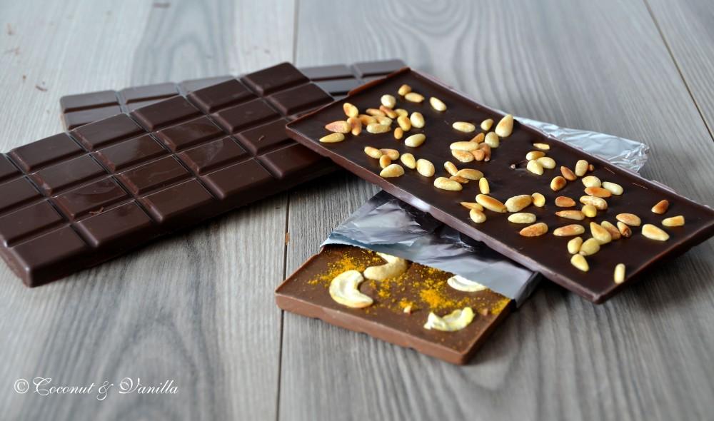 Selbstgemachte Schokoladentafeln