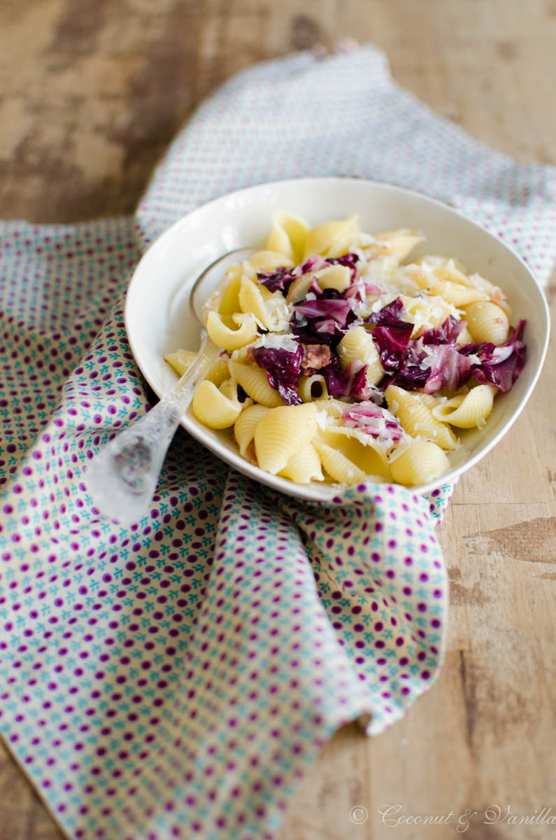Quick and easy dinner: Pasta with Radicchio and Bacon