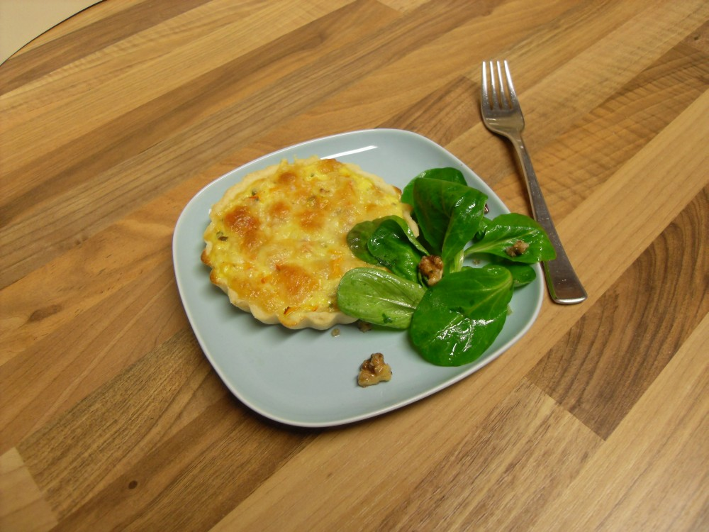 Red Kuri Squash Mini Quiches and nuttily lamb's lettuce