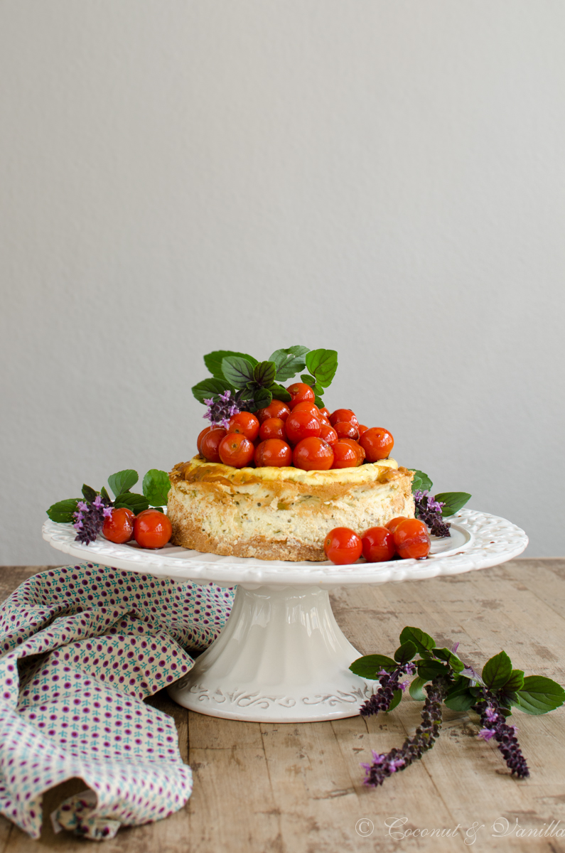 Savoury Goats Cheesecake with Caramelized Balsamico Tomatoes