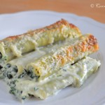 Cannelloni filled with Spinach & Ricotta