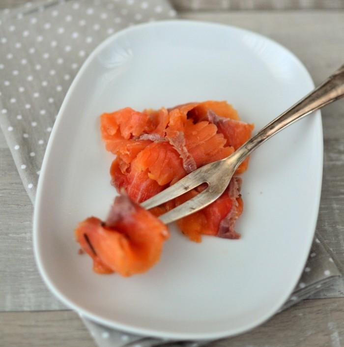 Gebeizter Lachs mit Orange, Estragon & Vanille
